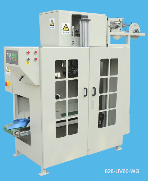 webbing hot cutting and winding machine